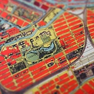 Kaart van Amsterdam in Café Kuijper